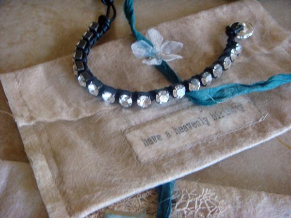 Easy rhinestone bracelet