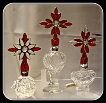 Glass Bottles done by Susan Paetz www. studio54stainedglass.com