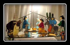 Amazing Nativity Scene by Rosalie Bergeron at www.studio54stainedglass.com